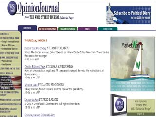 The Wall Street Journal's OpinionJournal.com  image